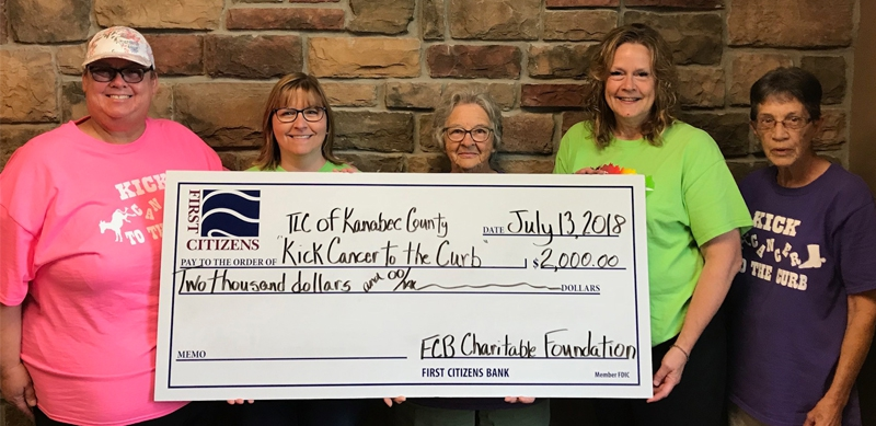 First Citizens Charitable Foundation Awards $2,000 to Kick Cancer To The Curb