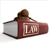 law book with gavel on top