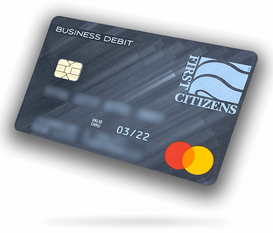 picture of my business debit card