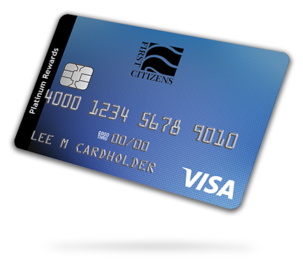picture of platinum rewards credit card