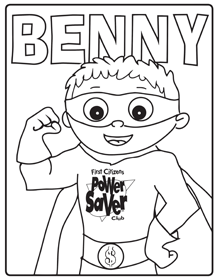 benny coloring page preview