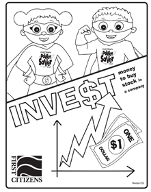 invest coloring page preview