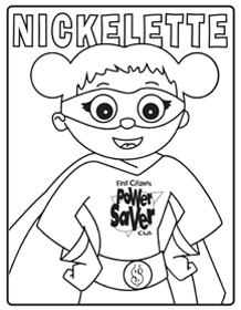 nickelette coloring page preview