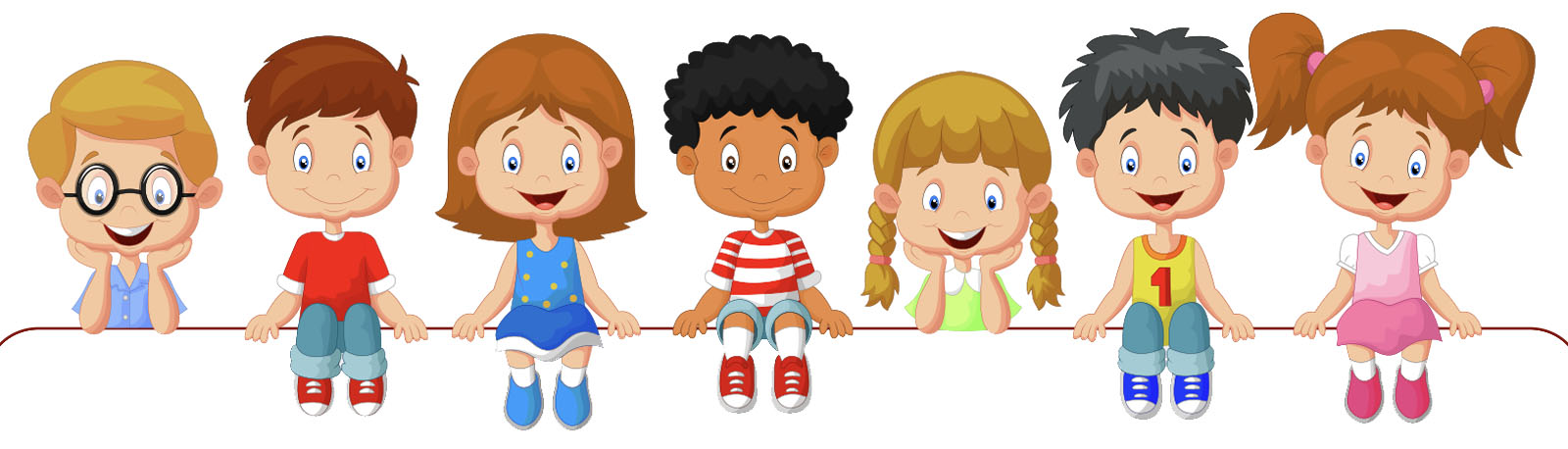 cartoon of kids smiling