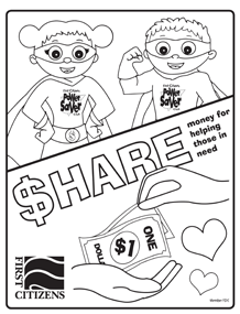 share coloring page preview